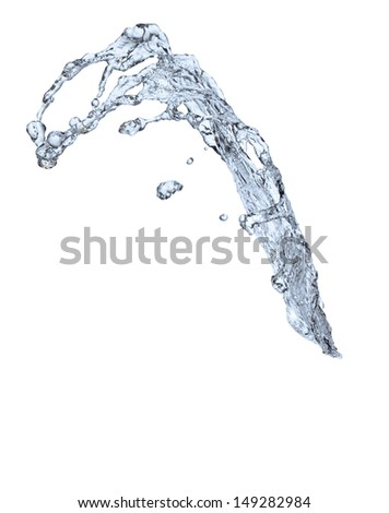 abstract liquid splash isolated on white background