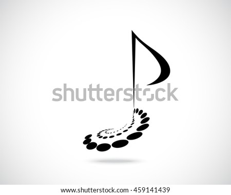 Abstract Logo Design Template Music Note Stock Illustration