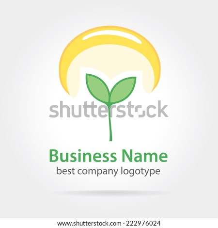 Abstract logotype concept isolated on white background for business design. Key ideas is business, abstract, twirl, creative, corporate, design. Concept for corporate identity and branding