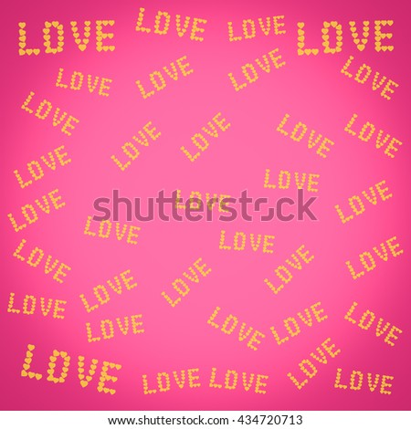 Abstract love heart background.