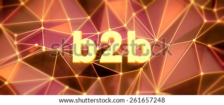 Abstract low-poly background. Word concept. Text b2b. 3d render. - stock photo
