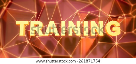 Abstract low-poly background. Word concept. Text training. 3d render. - stock photo