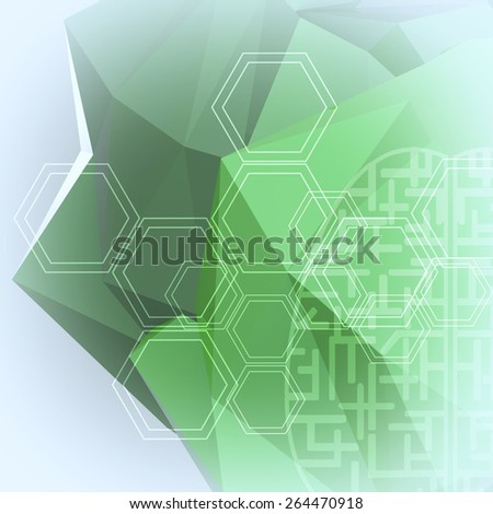 Abstract low poly geometric background - stock photo