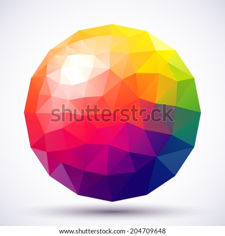 Abstract low-poly sphere.