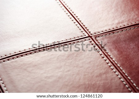 Abstract luxury red leather background - stock photo