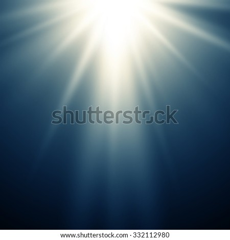 Abstract magic blue light background - stock photo