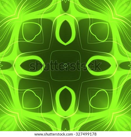 Abstract magic glow - decorative pattern and shape