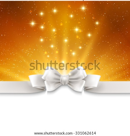 Abstract magic gold light background - stock photo