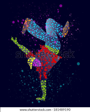 Abstract male dancer  - stock photo