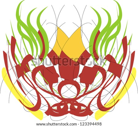 abstract mask - stock photo