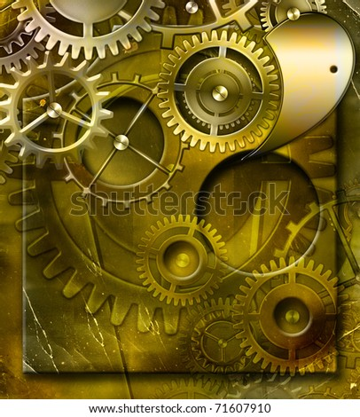 abstract mechanism - stock photo