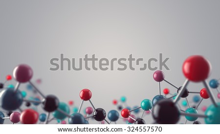 Abstract medical and science background with closeup of molecular structure - stock photo