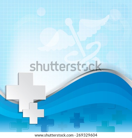 Abstract medical background with caduceus medical symbol. - stock photo