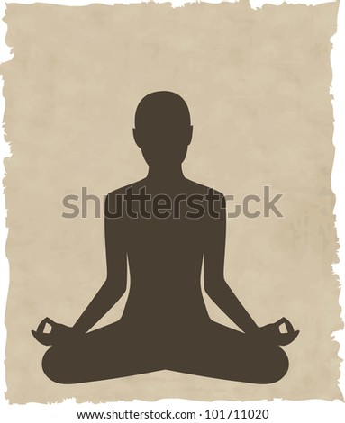 abstract meditating people background - vector version in portfolio - stock photo