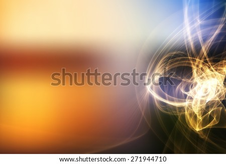 Abstract mesh background with fractal wave lines - stock photo