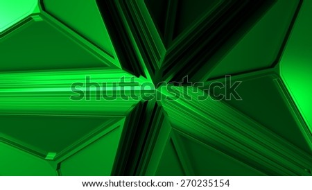 abstract metal background made of hard surface with a lot of bevel edges with blurred reflections - stock photo