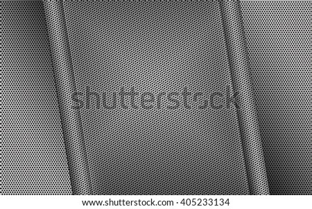 Abstract metal background with grid. Steel background for design. - stock photo