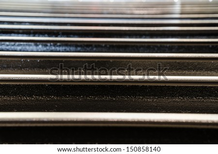 Abstract metal beam lines