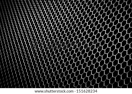 abstract metal grid background - stock photo