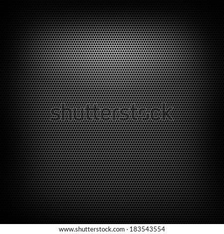 abstract metal grid pattern with lighting effect - stock photo