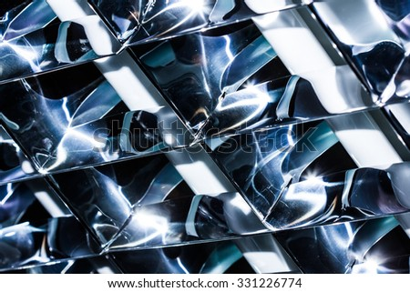 Abstract metal lamp reflector texture.