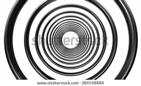 abstract metal pattern isolated on white background - stock photo