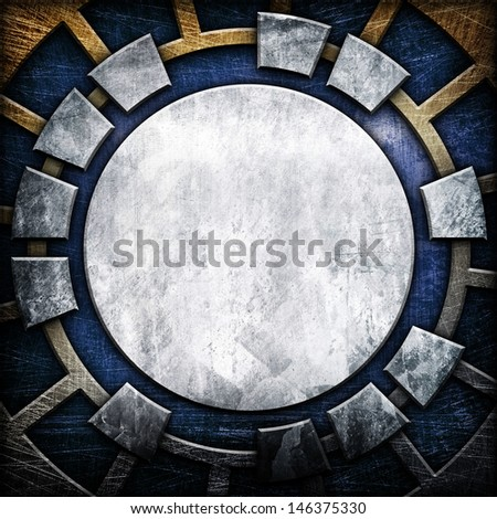 abstract metal template  - stock photo