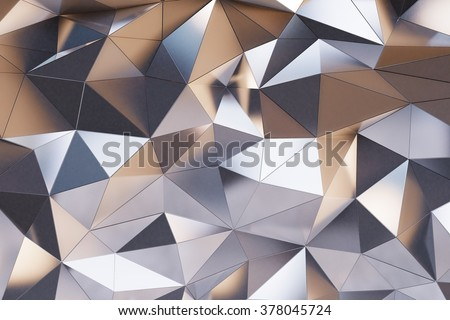Abstract metal wall 3D Render - stock photo