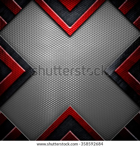 abstract metal with x design background - stock photo