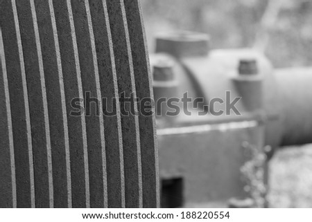 Abstract metal work of old machines - stock photo