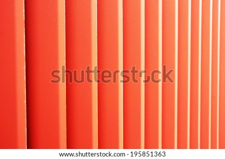 Abstract metalic red fence background