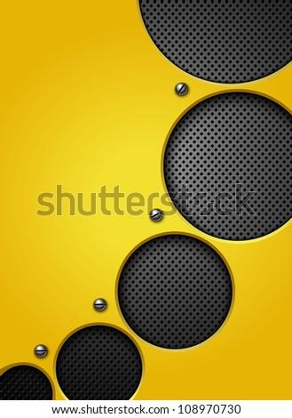 Abstract metallic background. Jpeg version. - stock photo
