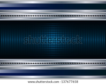 Abstract metallic background. Raster version of vector illustration. - stock photo
