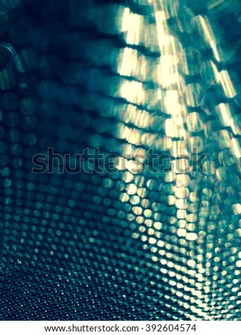 Abstract metallic mesh background (cold) - stock photo