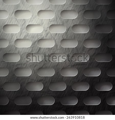 abstract metallic wallpaper with grunge surface - stock photo