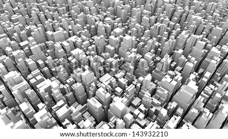 abstract metropolis 03 - stock photo