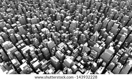 abstract metropolis 03 - halftone - stock photo