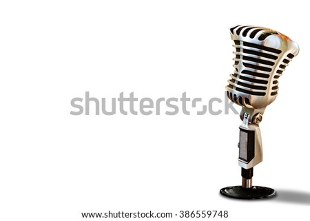 abstract microphone isolated on white. - stock photo