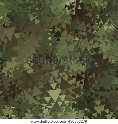 Abstract Military Camouflage Background Made of Geometric Triangles Shapes - stock photo