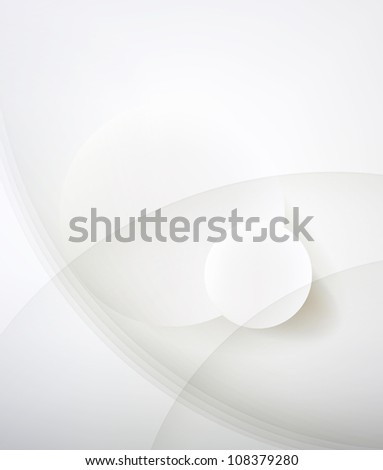 Abstract minimalist design in a light tone. Two circle. - stock photo