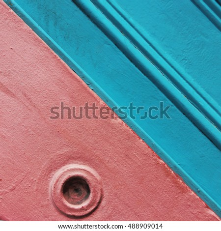 Abstract minimalistic shots of high colour architectural detail