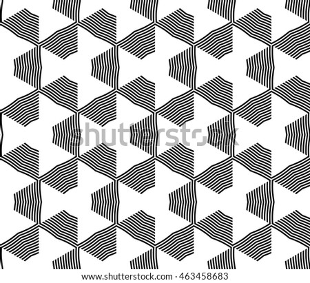 Abstract mirror seamless pattern with complex geometry style. Repeating triangle, line. For modern design, wallpaper, textile industry