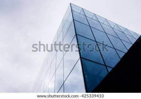 Abstract modern architecture on sky background