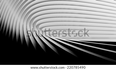 Abstract Modern Background, empty futuristic interior with columns or balks, 3D rendering - stock photo
