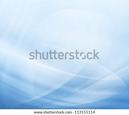 Abstract modern background with blue waves - stock photo