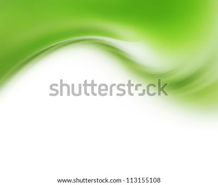 Abstract modern background with green waves - stock photo