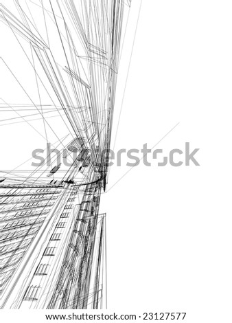 abstract modern  buildings