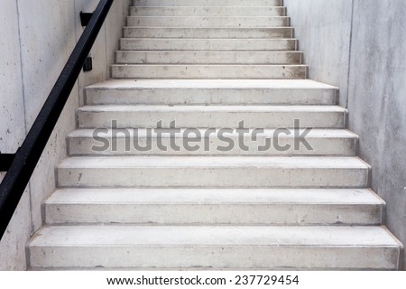 Abstract modern concrete building - stairway composition - stock photo