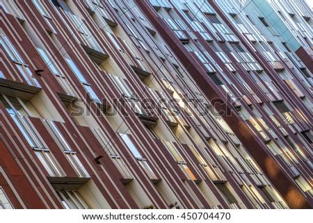 Abstract modern facade - stock photo