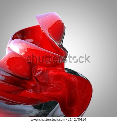 Abstract Modern Floral Object - stock photo